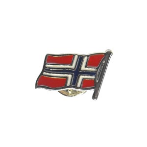 Pin med norsk flagg