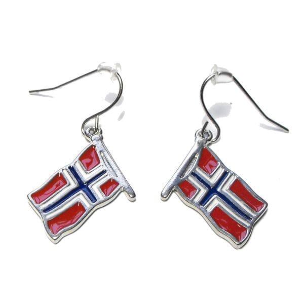 9fed0799 Øredobber med norske flagg - Bella Donna